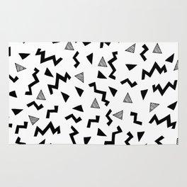 Geo Shapes black and white minimal pattern basic nursery home decor patterns Rug