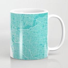 Melbourne map turquoise Coffee Mug