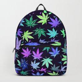 Blue Hempy Leaves Backpack