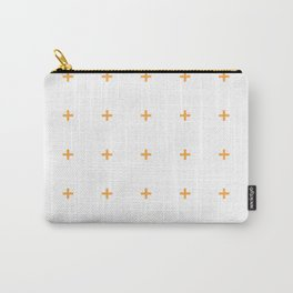 PLUS ((funky orange on white)) Carry-All Pouch