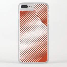 Red Moon Rising Clear iPhone Case