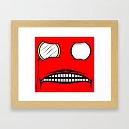 Two Eyes Framed Art Print