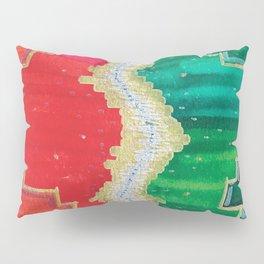 Mending the Rift - Red, Green & Gold Pillow Sham