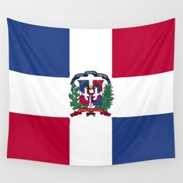 Dominican Republic flag emblem Wall Tapestry