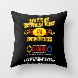 Cave & The Combustible Lemons Throw Pillow