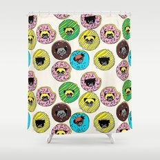 Pug Donuts Shower Curtain