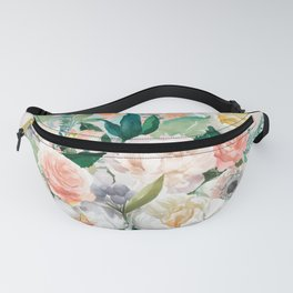 Pastel bouquet with roses Fanny Pack