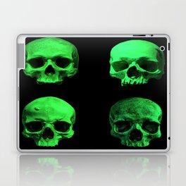 Skull quartet green Laptop & iPad Skin