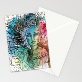 Floral Lady Stationery Cards