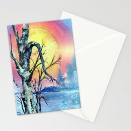 Misty Morning by Maureen Donovan Stationery Cards
