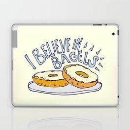 I Believe in Bagels Laptop & iPad Skin
