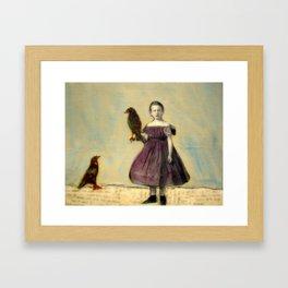 Little Crow Framed Art Print