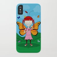 i heart butterflies iPhone X Slim Case