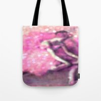 degas Tote Bags featuring Ballerina by PureVintageLove