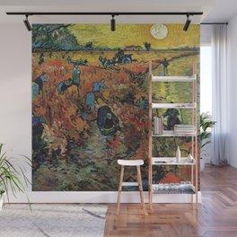 Red Vineyard at Arles - Van Gogh 1888 Wall Mural