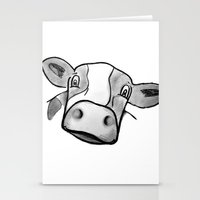 cow Stationery Cards featuring Cow by mandylauren