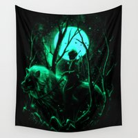 hunter Wall Tapestries featuring The Hunter by nicebleed