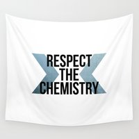 chemistry Wall Tapestries featuring Respect the Chemistry by Spooky Dooky