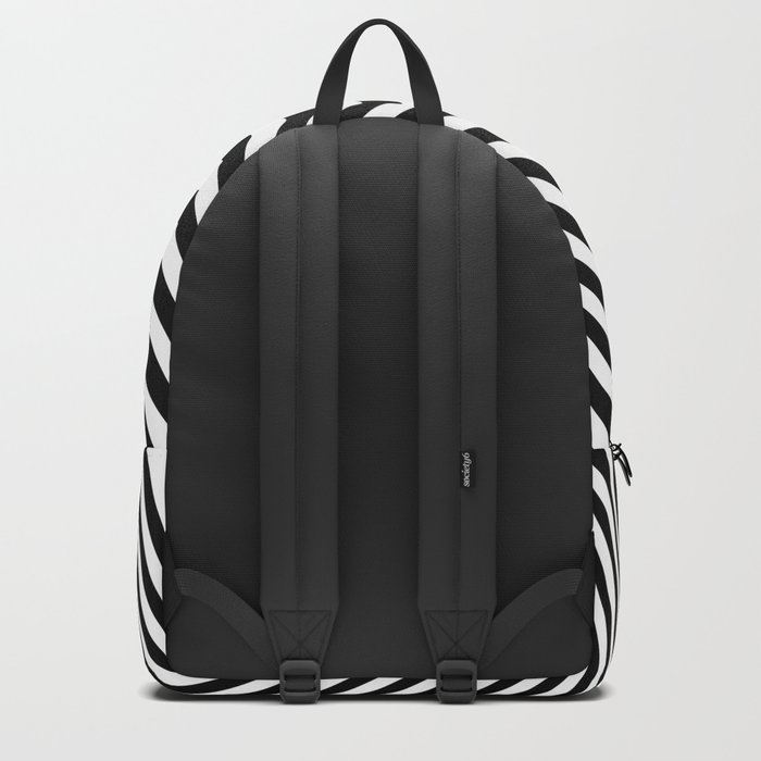 Black and White Pop Art optical illusion lines Backpack