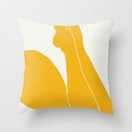 Nude in yellow 3 Throw Pillow