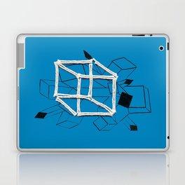 hypercube blue Laptop & iPad Skin