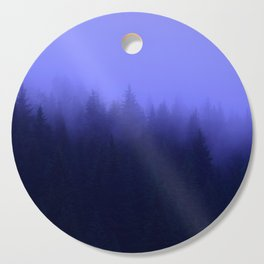 Periwinkle Fog 0367 - Seward, Alaska Cutting Board