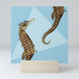 Seahorse Triangle Geometric Modern Beach House Colorful Mini Art Print