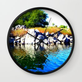 Beautiful Blue Nile River Wall Clock