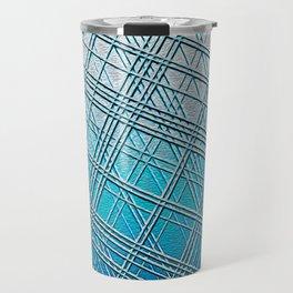 Steel Blue Sky Lines Travel Mug