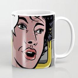 Ellen Ripley in Aliens as Roy Lichtenstein's Pop Art Coffee Mug