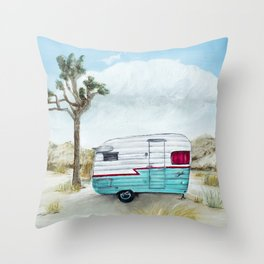 My home in Joshua Tree Throw Pillow