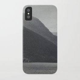 In the Shadows of Mountains iPhone Case