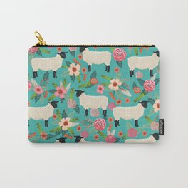 Sheep farm rescue sanctuary floral animal pattern nature lover vegan art Carry-All Pouch