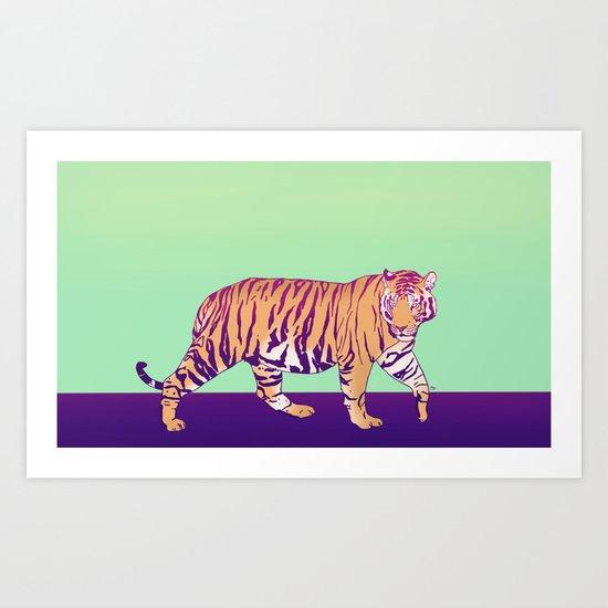 Tiger Under the Sun Art Print