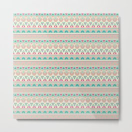 Ethnic , ornament , tribal , pastel Metal Print