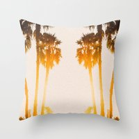 west coast Throw Pillows featuring WEST COAST by Jack Stobart