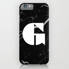 Black Marble - Alphabet G Slim Case iPhone 6s