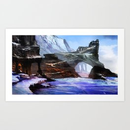 Frozen Temple Art Print