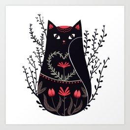 Russian kitty Art Print