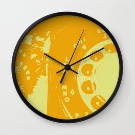 Telephone Line - Yellow Wall Clock