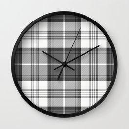 Black & White Tartan Wall Clock