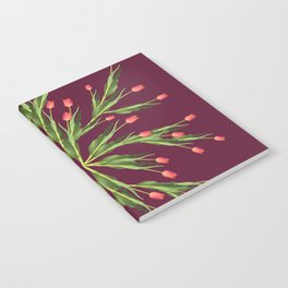 Burgundy and tulips Notebook