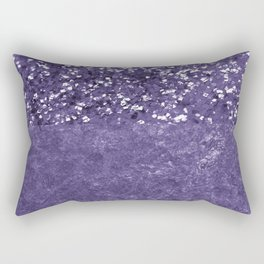 Ultra Violet Glitter Meets Ultra Violet Concrete #1 #decor #art #society6 Rectangular Pillow