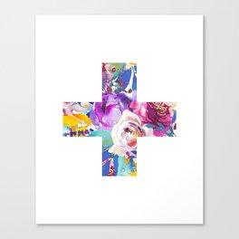 Floral Swiss cross Canvas Print