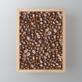 Coffee Bean Photo Pattern Framed Mini Art Print