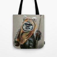 ewok Tote Bags featuring Ewok by Sam Luotonen