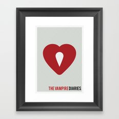 The Vampire Diaries - Minimalist Framed Art Print
