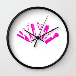 Womens Hairdresser Primping Aint Easy Gift Hairstylist Salon Print Wall Clock