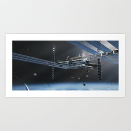 Feral Orbit - The Station Art Print
