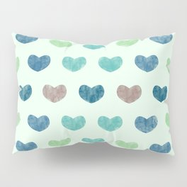 Colorful Cute Hearts V Pillow Sham